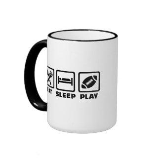 Fútbol de Eat Sleep Play Tazas De Café