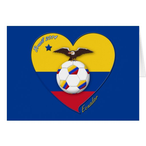 Fútbol de ECUADOR. Ecuadorian National Team Soccer Tarjetas