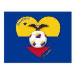 Fútbol de ECUADOR. Ecuadorian National Team Soccer Tarjeta Postal