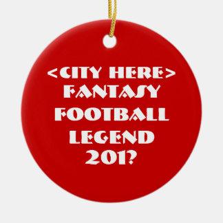 Fútbol de encargo de la fantasía adorno navideño redondo de cerámica