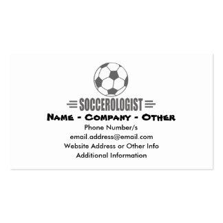 Fútbol de encargo divertido tarjetas de visita