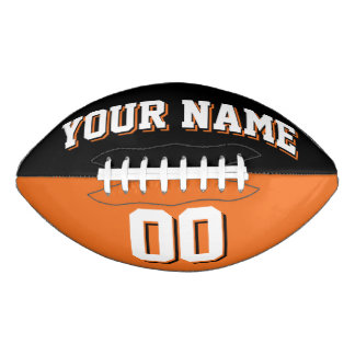 Fútbol de encargo negro y anaranjado BICOLOR Balón De Fútbol Americano