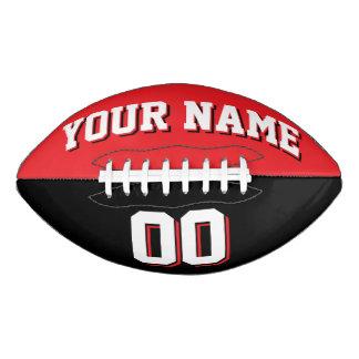 Fútbol de encargo rojo y negro BICOLOR Balón De Fútbol Americano