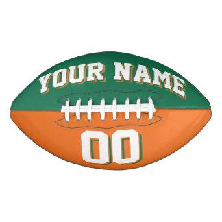 Fútbol de encargo verde y anaranjado BICOLOR Balón De Fútbol Americano