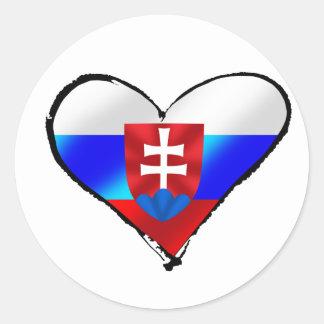 Fútbol de Eslovaquia Pegatinas Redondas
