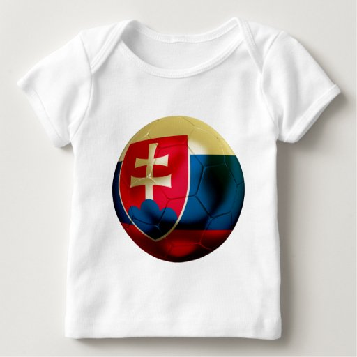 Fútbol de Eslovaquia Playera De Bebé