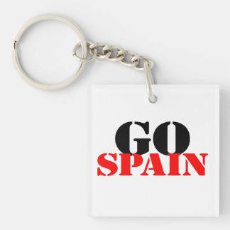 Fútbol de España Llavero Cuadrado Acrílico A Doble Cara