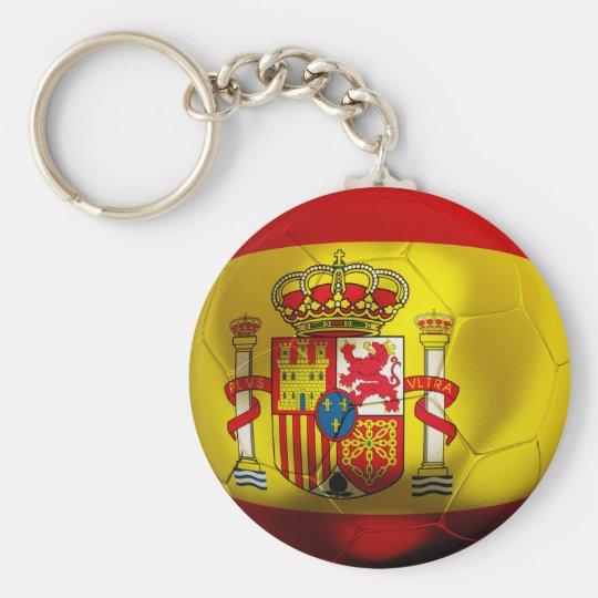 Fútbol de España Llavero Redondo Tipo Pin