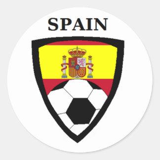 Fútbol de España Pegatina Redonda