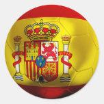 Fútbol de España Pegatinas Redondas