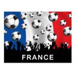 Fútbol de Francia Tarjeta Postal