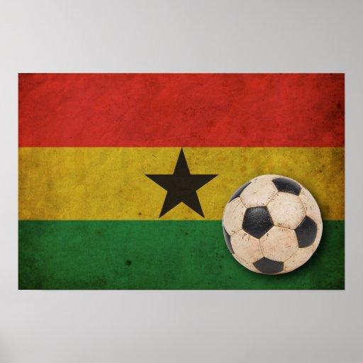 Fútbol de Ghana del vintage Posters