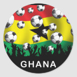 Fútbol de Ghana Etiquetas Redondas