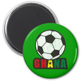 Fútbol de Ghana Imán Redondo 5 Cm