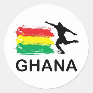 Fútbol de Ghana Pegatina Redonda