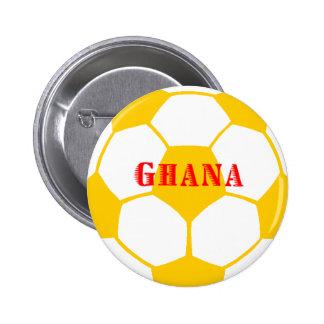 Fútbol de Ghana Pin Redondo De 2 Pulgadas