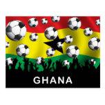 Fútbol de Ghana Tarjeta Postal