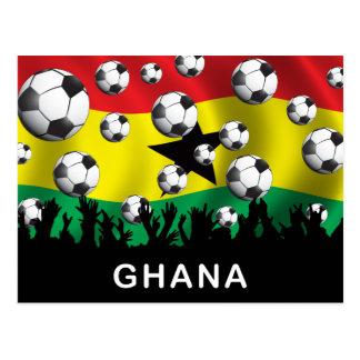 Fútbol de Ghana Postales