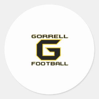 Fútbol de Gorrell Gorrillas Pegatina Redonda