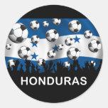 Fútbol de Honduras Pegatina Redonda