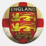 Fútbol de Inglaterra Etiquetas Redondas