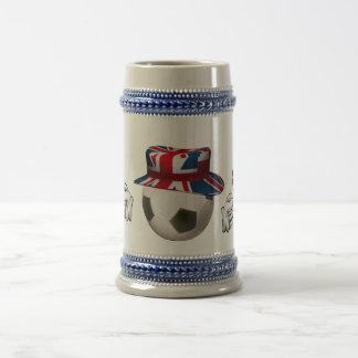 Fútbol de Inglaterra Jarra De Cerveza