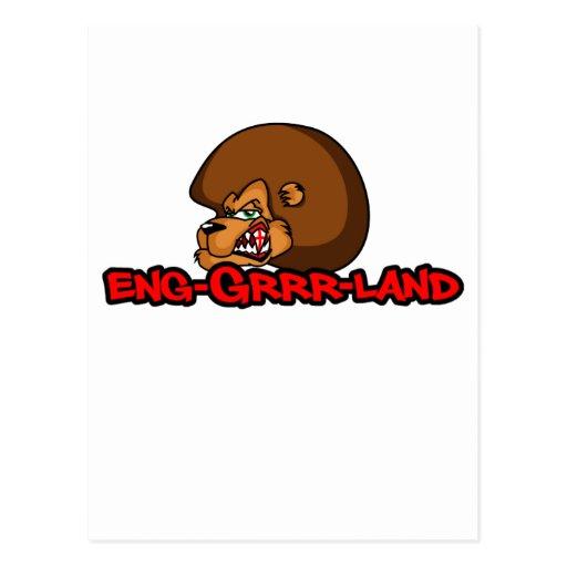 Fútbol de Inglaterra (melena de Brown) Tarjetas Postales
