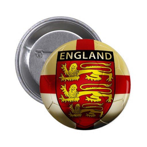 Fútbol de Inglaterra Pin Redondo 5 Cm