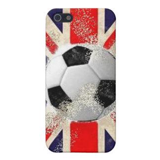 Fútbol de Inglaterra - Union Jack iPhone 5 Funda