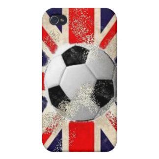 Fútbol de Inglaterra - Union Jack iPhone 4 Carcasas