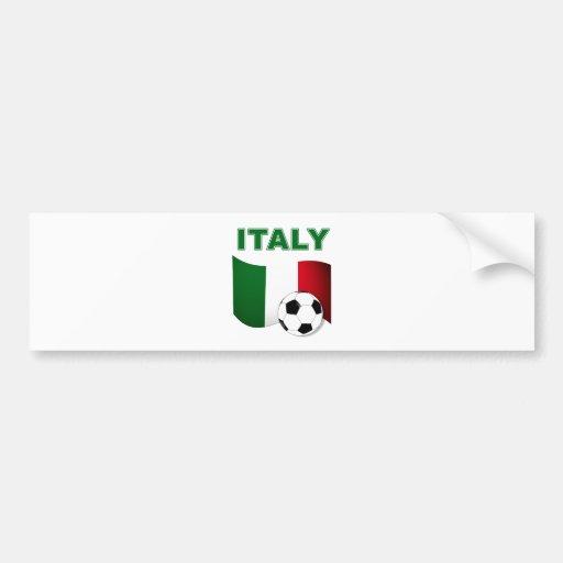 Fútbol de Italia 2010 mundiales Etiqueta De Parachoque