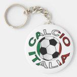 Fútbol de Italia Calcio Italia Llavero Redondo Tipo Pin