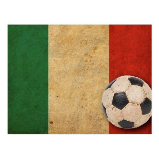 Fútbol de Italia del vintage Postales