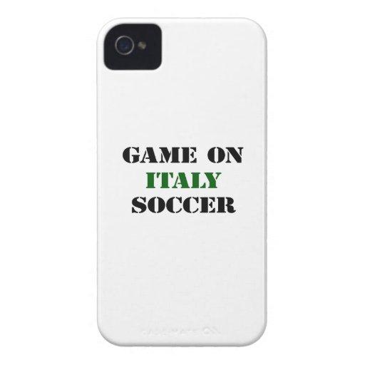 Fútbol de Italia iPhone 4 Case-Mate Carcasas