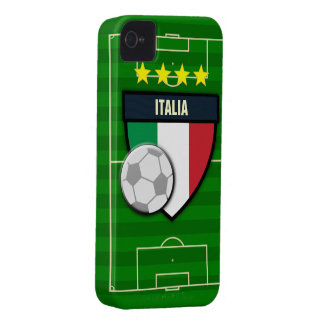 Fútbol de Italia Italia iPhone 4 Case-Mate Coberturas