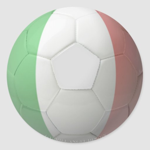 Fútbol de Italia Pegatinas Redondas