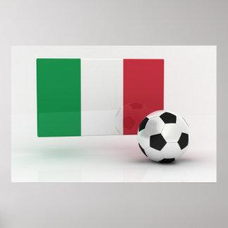 Fútbol de Italia Póster
