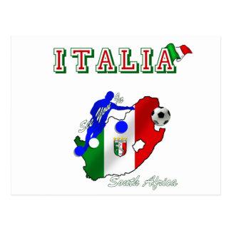 Fútbol de Italia Tarjeta Postal