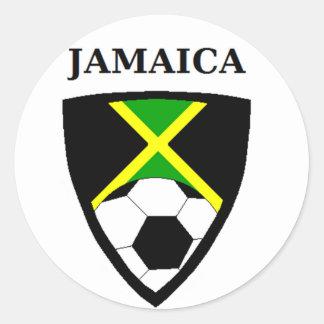 Fútbol de Jamaica Pegatina Redonda
