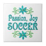 Fútbol de la alegría de la pasión azulejos