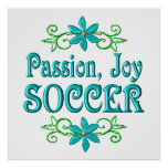 Fútbol de la alegría de la pasión impresiones