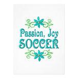 Fútbol de la alegría de la pasión invitación
