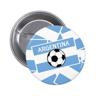 Fútbol de la Argentina Pin Redondo De 2 Pulgadas