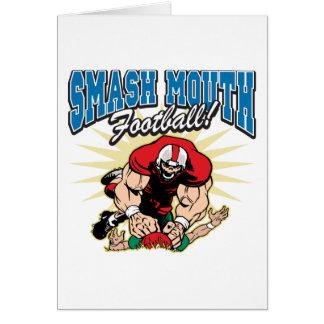 Fútbol de la boca del choque tarjeta de felicitación