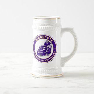 Fútbol de la butaca QB Minnesota Taza De Café