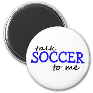 Fútbol de la charla a mí imán redondo 5 cm