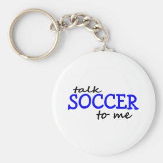 Fútbol de la charla a mí llavero redondo tipo pin