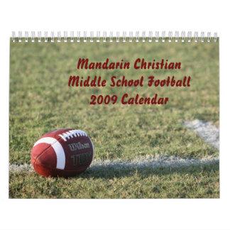 Fútbol de la escuela secundaria del calendario -