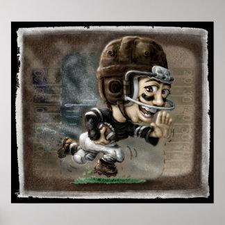 Fútbol de la escuela vieja posters