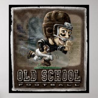 Fútbol de la escuela vieja póster